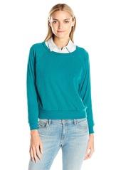 American Apparel Women's Tri-Blend Rib Light Weight Raglan Pullover  mall
