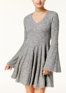 American Rag Juniors' Bell-Sleeve Fit & Flare Dress, Created for Macy's