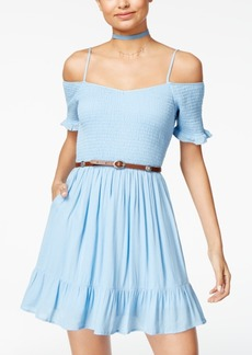 American Rag Cold-Shoulder Fit & Flare Dress, Created for Macy's