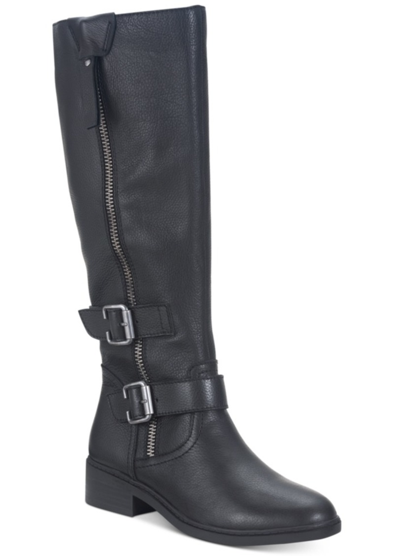 American Rag Collins Leather Buckled Boots, Created For Macy's Women's Shoes