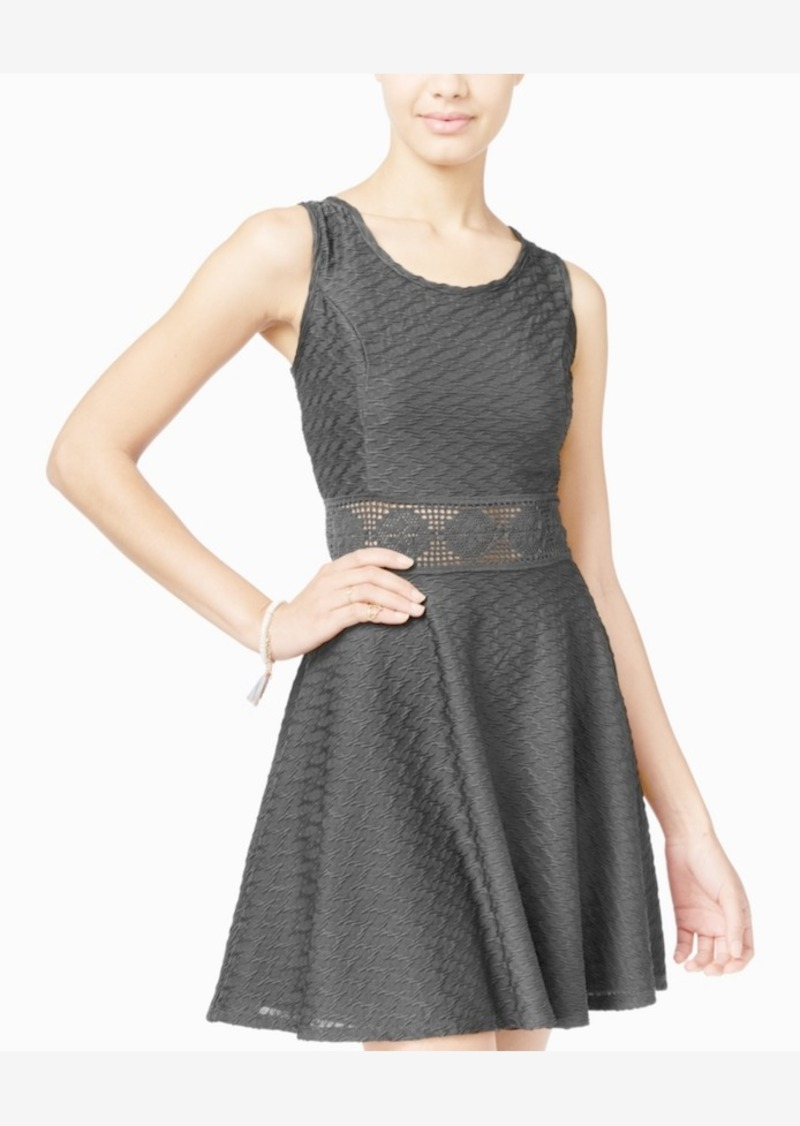 American Rag Crochet A-Line Dress, Only at Macy's