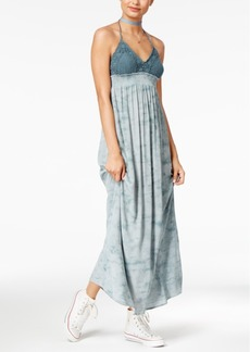 American Rag Crochet Printed Halter Maxi Dress, Created for Macy's