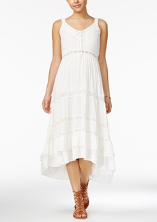 American Rag Crochet-Trim High-Low Maxi Dress, Only at Macy's