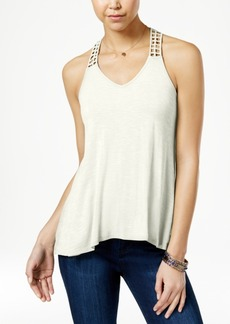 American Rag Crocheted-Back High-Low Tank Top, Created for Macy's