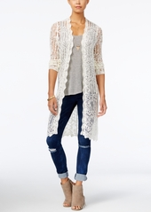 American Rag Crocheted Duster Cardigan, Created for Macy's