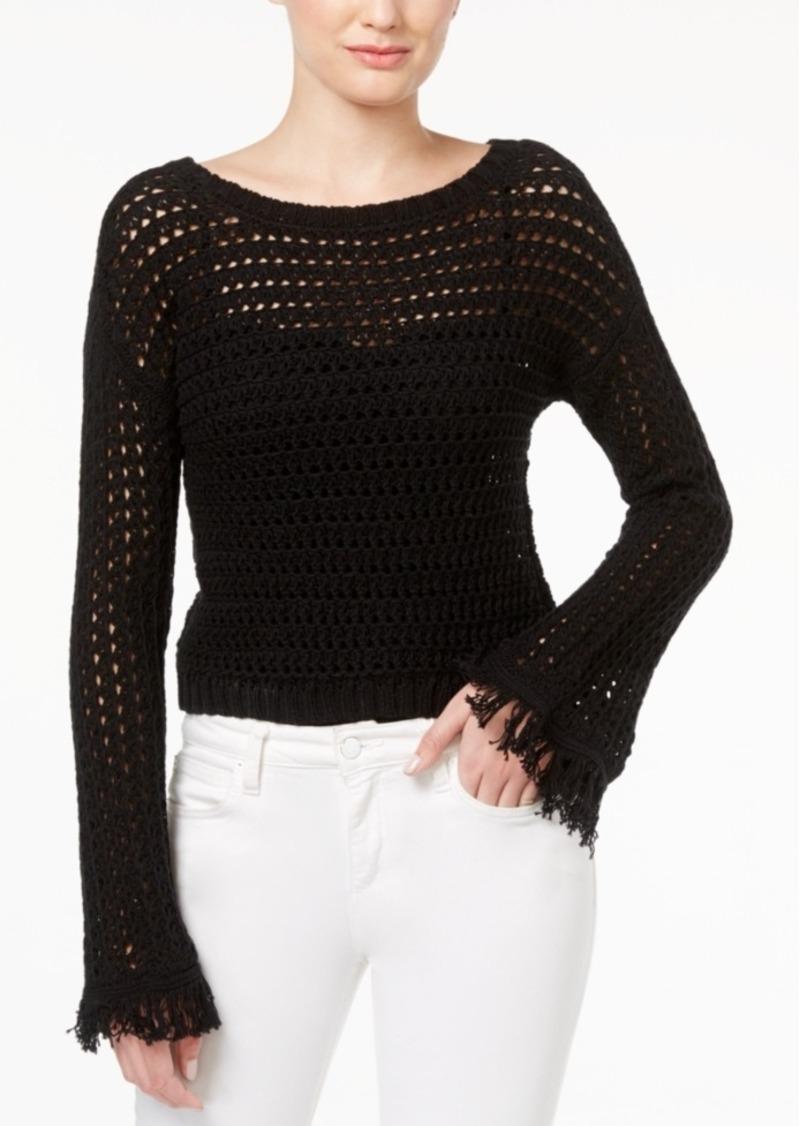 American Rag American Rag Juniors' Cropped Bell-Sleeve Sweater ...