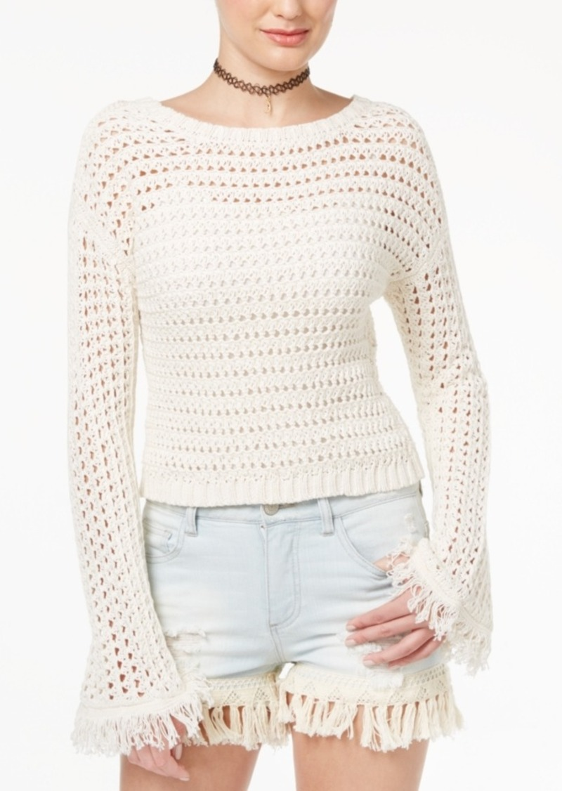 American Rag American Rag Cropped Bell-Sleeve Sweater, Created for ...