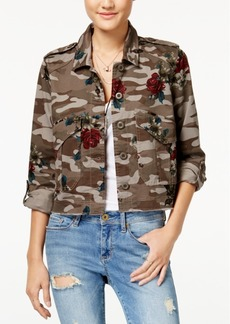 American Rag Cropped Camo-Print Cargo Jacket, Created for Macy's