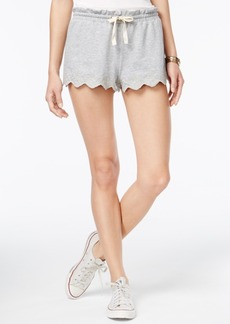American Rag Embroidered Scalloped Soft Shorts, Only at Macy's