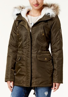 American Rag Faux-Fur-Trim Hooded Parka, Created for Macy's