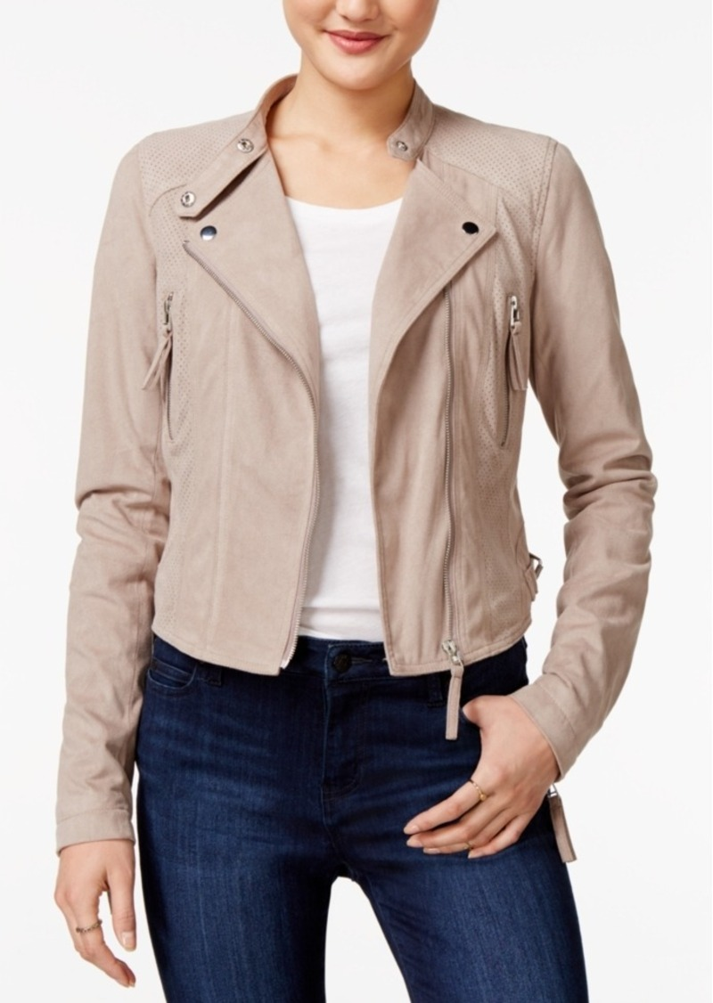 d7c0e71f7 Faux-Suede Moto Jacket, Only at Macy's