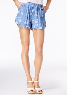 American Rag Flora Printed Ruffle-Trim Soft Shorts, Only at Macy's