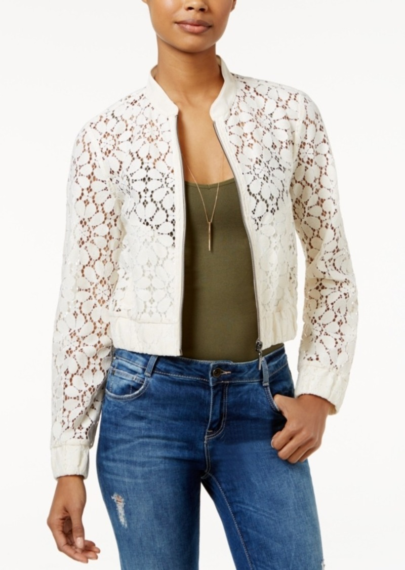 3f65efd36a6be American Rag American Rag Juniors  Floral Lace Bomber Jacket ...