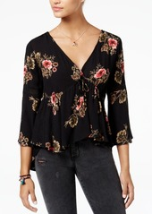 American Rag High-Low Floral-Print Peasant Top, Created for Macy's