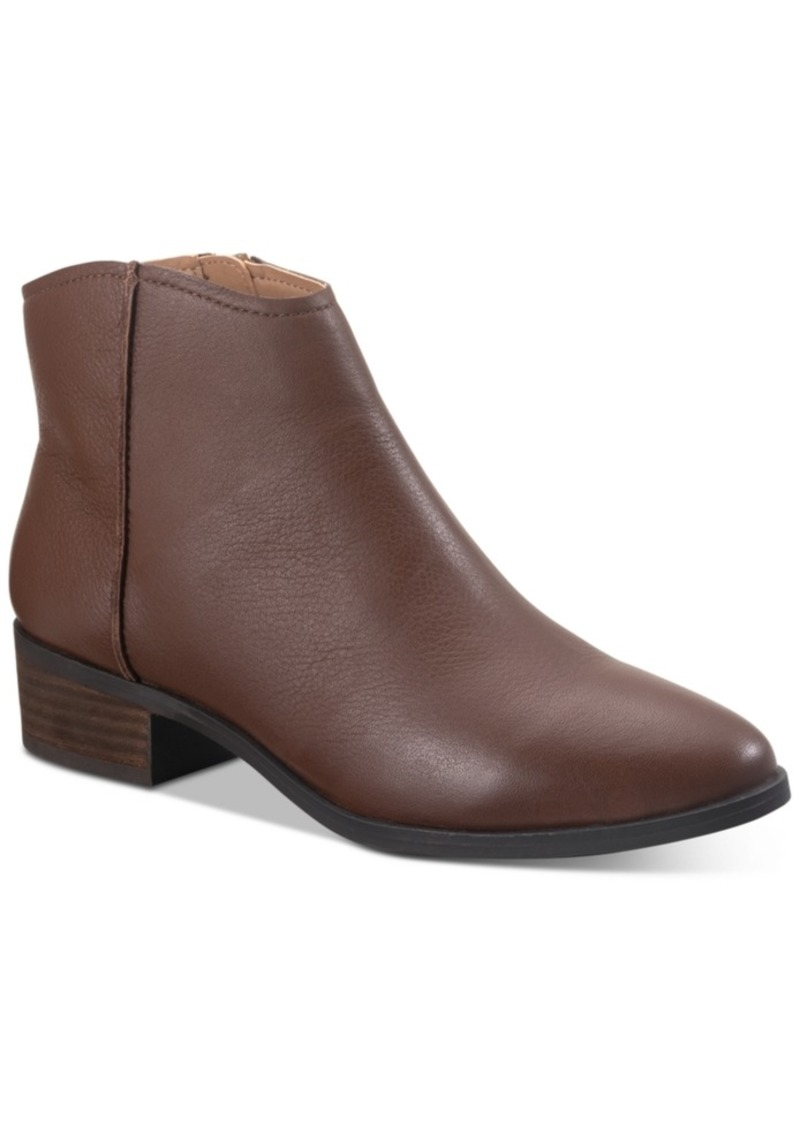 American Rag Jolene Leather Ankle Booties, Created for Macy's Women's Shoes