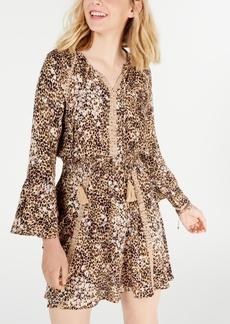 American Rag Juniors' Animal-Print Dress, Created for Macy's