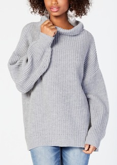 American Rag Juniors' Balloon-Sleeved Turtleneck Sweater, Created for Macy's