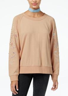 American Rag Juniors' Beaded Studded Sweatshirt, Created for Macy's