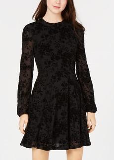 American Rag Juniors' Burnout Velvet Fit & Flare Dress, Created for Macy's