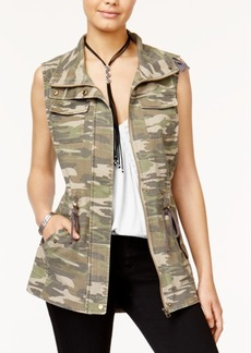 American Rag Juniors' Camouflage Utility Vest, Created for Macy's