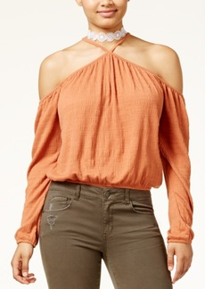 American Rag Juniors' Cold-Shoulder Crop Top, Created for Macy's