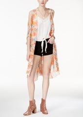 American Rag Juniors' Cold-Shoulder Kimono, Created for Macy's
