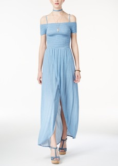 American Rag Juniors' Cold-Shoulder Maxi Dress, Only at Macy's