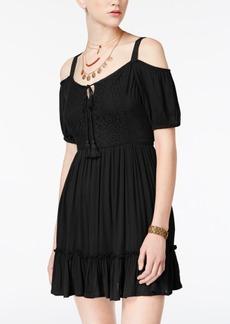 American Rag Juniors' Cold-Shoulder Peasant Dress, Created for Macy's