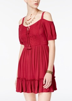 American Rag Juniors' Cold-Shoulder Peasant Dress, Created for Macy's