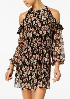 American Rag Juniors' Cold-Shoulder Pleated Dress, Created for Macy's