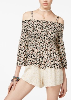 American Rag Juniors' Cold-Shoulder Romper, Only at Macy's