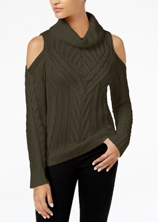 American Rag Juniors' Cold-Shoulder Turtleneck Sweater, Created for Macy's