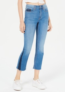 American Rag Juniors' Contrast Pieced Kick-Flare Jeans, Created for Macy's
