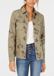 American Rag Juniors' Cotton Floral Camo Trucker Jacket, Created for Macy's