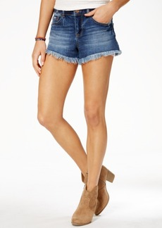 American Rag Juniors' Cotton Frayed Denim Shorts, Created for Macy's
