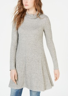 American Rag Juniors' Cowl-Neck Rib-Knit Swing Dress, Created for Macy's