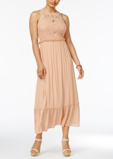 American Rag Juniors' Crochet Maxi Dress, Only at Macy's