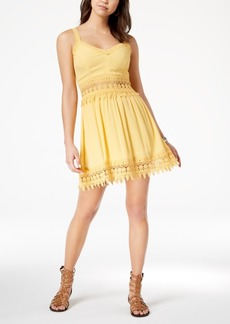 American Rag Juniors' Crochet-Trim Dress, Created for Macy's