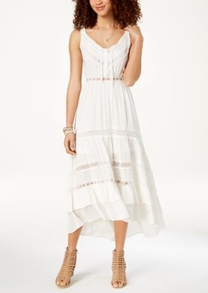 American Rag Juniors' Crochet-Trimmed Peasant Dress, Created for Macy's