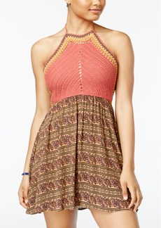 American Rag Juniors' Crocheted Halter Dress, Created for Macy's