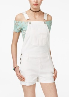 American Rag Juniors' Cuffed Denim Shortalls, Only at Macy's