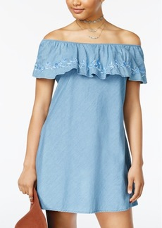 American Rag Juniors' Denim Shift Dress, Created for Macy's