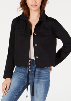 American Rag Juniors' Embroidered Cropped Cargo Jacket, Created for Macy's