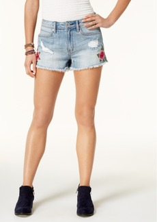 American Rag Juniors' Embroidered Cutoff Denim Shorts, Created for Macy's
