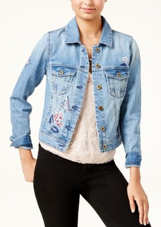 American Rag Juniors' Embroidered Denim Jacket, Created for Macy's