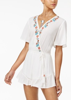 American Rag Juniors' Embroidered Romper, Only at Macy's