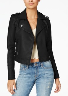 American Rag Juniors' Faux-Leather Moto Jacket, Created for Macy's