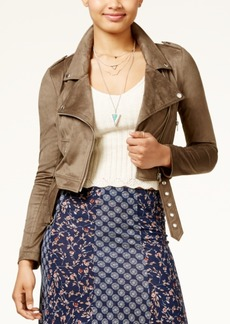 American Rag Juniors' Faux-Suede Moto Jacket, Created for Macy's