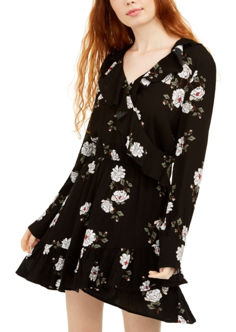 American Rag Juniors' Floral Faux Wrap Dress, Created For Macy's