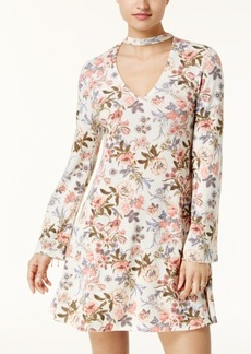 American Rag Juniors' Floral-Print Choker Dress, Created for Macy's